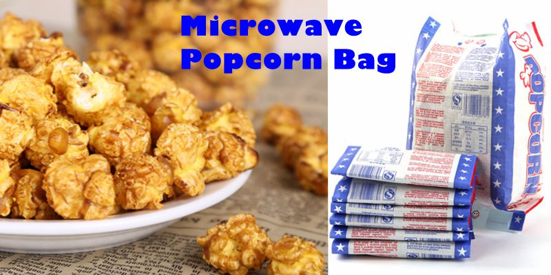 Food Grade Factory Direct Paper Microwave Popcorn Bags With Susceptor Film Inside