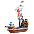 New DIY PIRATES Pirate ship Super Brave Enlighten Construction Brick Building Blocks Toy scale models playmobil