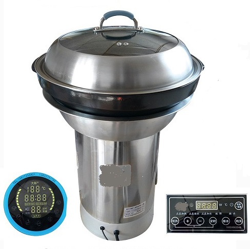 Commercial electric shabu shabu hot pot induction cooker stainless steel cookware 5 layer steamer