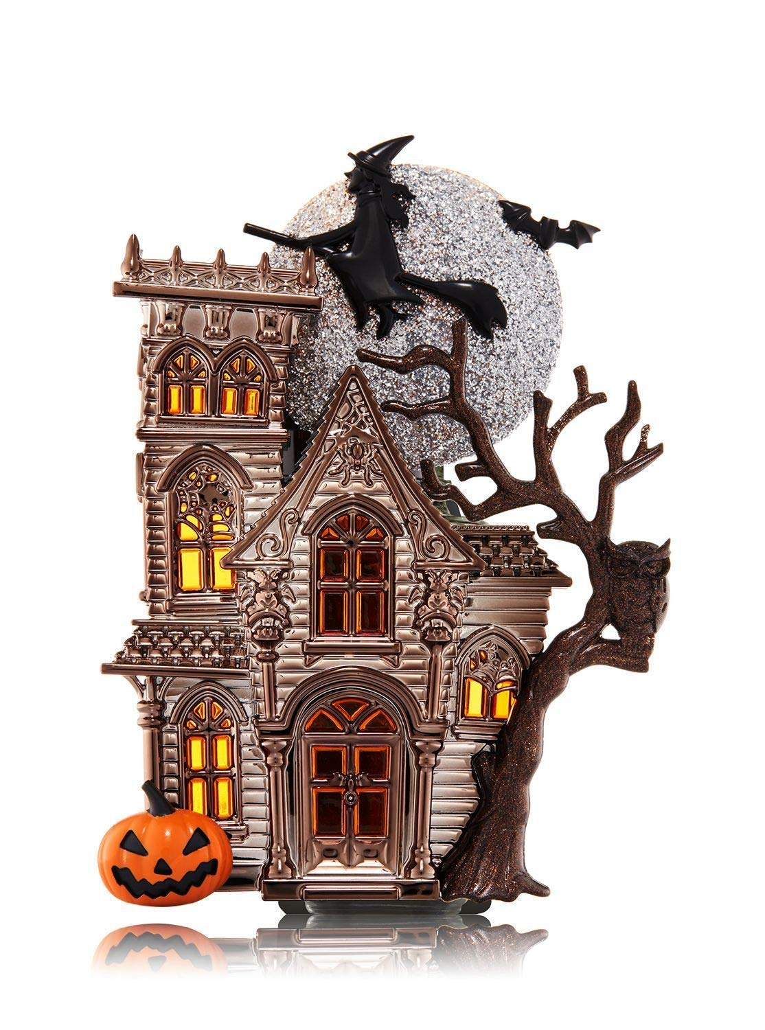 d4572bbfd2 Bath and Body Works Halloween Haunted House WallFlower Fragrance Plug  Nightlight - with Flying Witch,