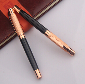 Gfit Rose gold metal roller ball point pen for luxury market