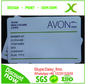 PVC health care card printing/re-printable health care card/ Pvc card maker