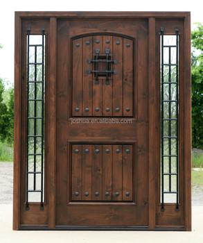 Knotty Alder Exterior Doors Rustic Wood Front Entry Door