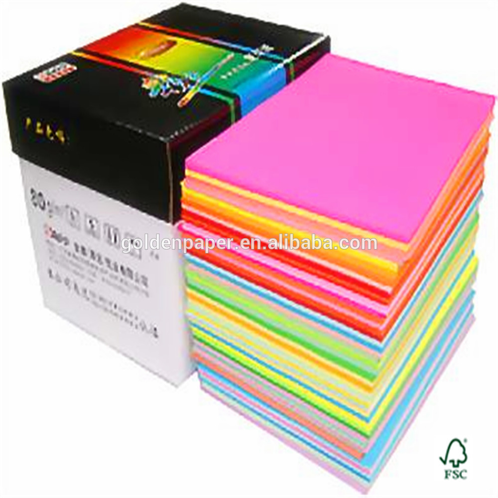 supply all kinds of a4 size color copy paper color bond paper color bristol paper in - Color Papers