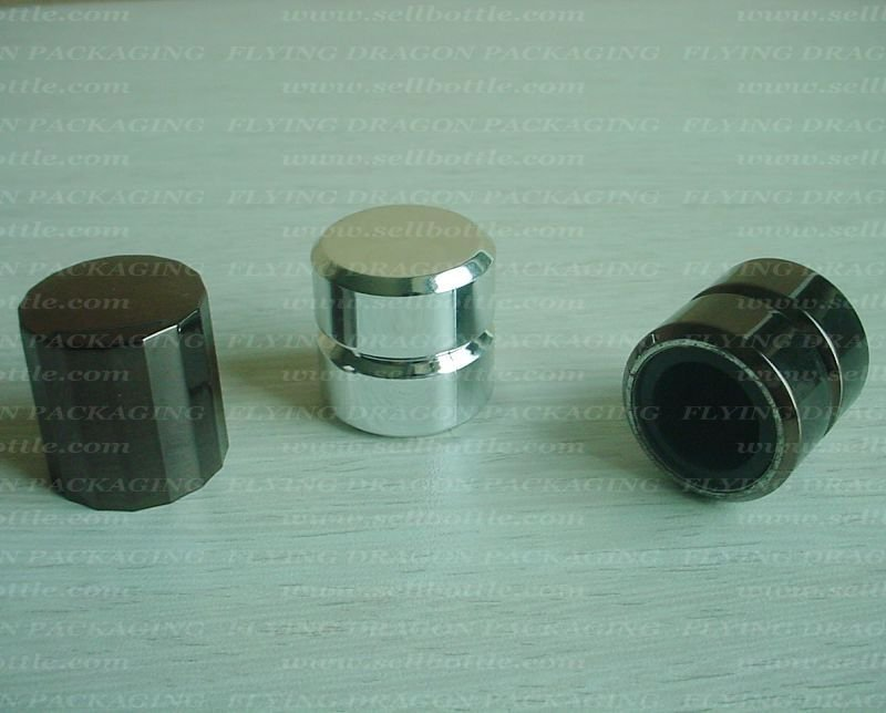 Perfume bottle cap, ABS Metalized cap with PP inside(ITEM:FDP156)