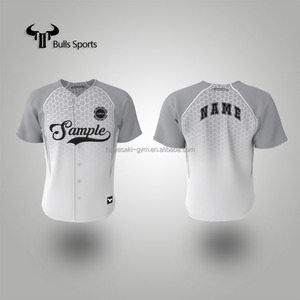 Wholesale saleable breathable anti-shrink sublimation polyester baseball jersey wear