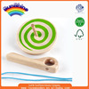 wooden toys factory directly supply 2016 new hot sell wooden EN71/ASTM spinning top ESMY0026
