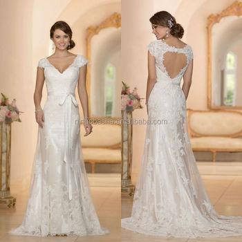 Wholesale Beautiful Alibaba A-Line Wedding Dress 2015 Custom Made ...
