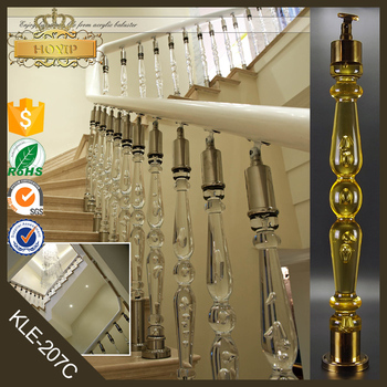 Crystal Staircase Acrylic Stair Handrails Stair Glass Railing Prices Stair  Baluster