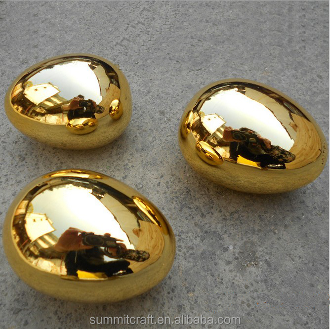 High quality golden electroplated decorative artificial egg
