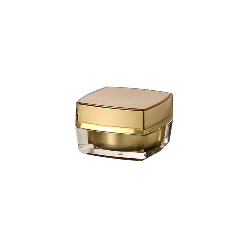15g 30g 50g gold luxury cream jar acrylic square jar