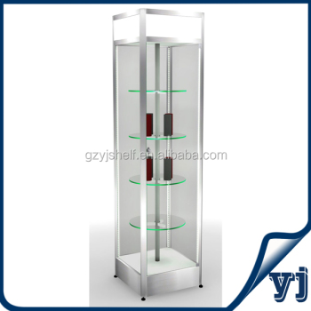 High End Gl Earring Display Cabinet Rotating Showcase