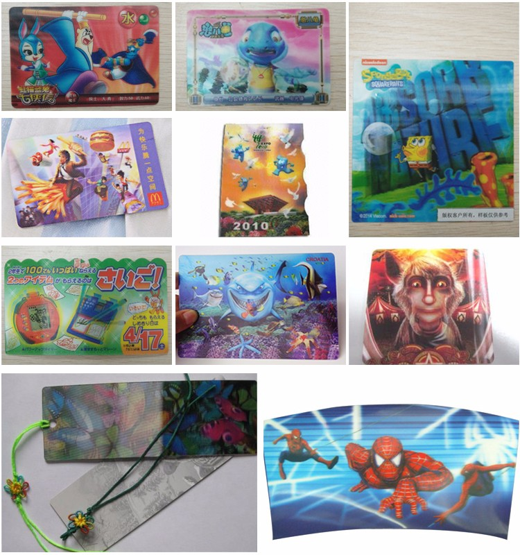 Different design 3d lenticular business card with high quality