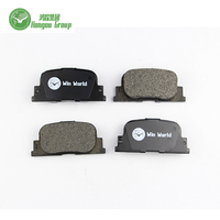 China hot sale semi metal car brake pad for Toyota D2187/04466-47010