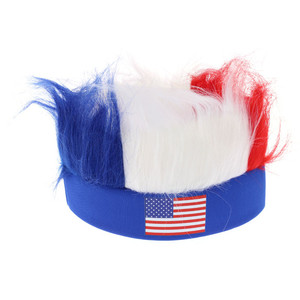 USA America Football Wig Headband for World Cup in 2019 Fancy Hairy Headband for Sale