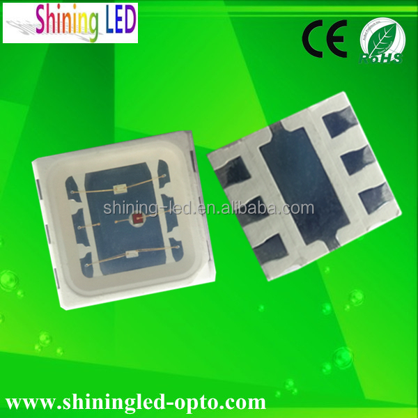High Power Tri-color(Red-Blue_green) 3*60mA 0.5W San'an Chip SMD 5050 RGB LED Diode