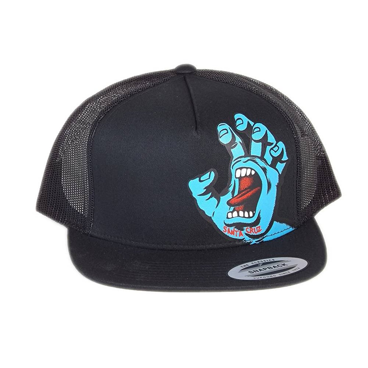 495f437c5c3ec Get Quotations · Santa Cruz Black Screaming Hand Snapback Cap (Default