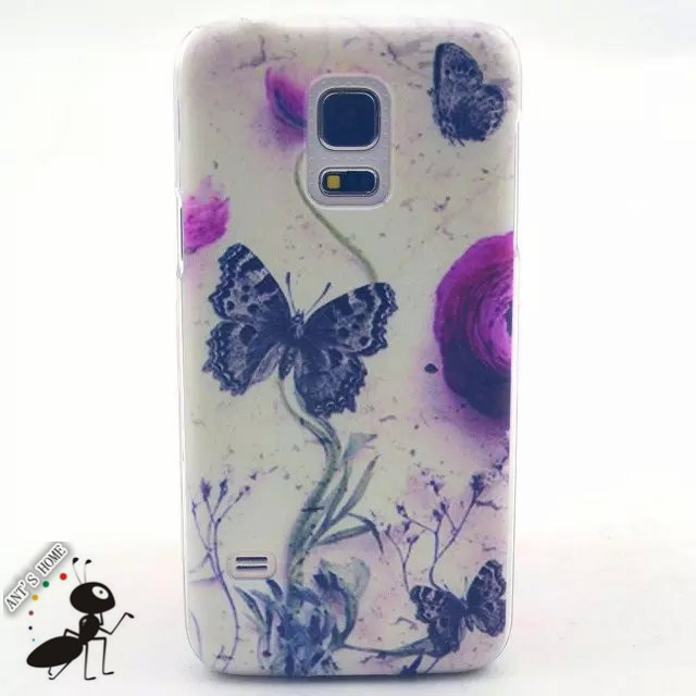 Fashion PC Hard Back Case Cover For Samsung Galaxy S5 Mini Luxury Cartoon Painting Carcasas Fundas For Samsung S5 Mini Case Capa