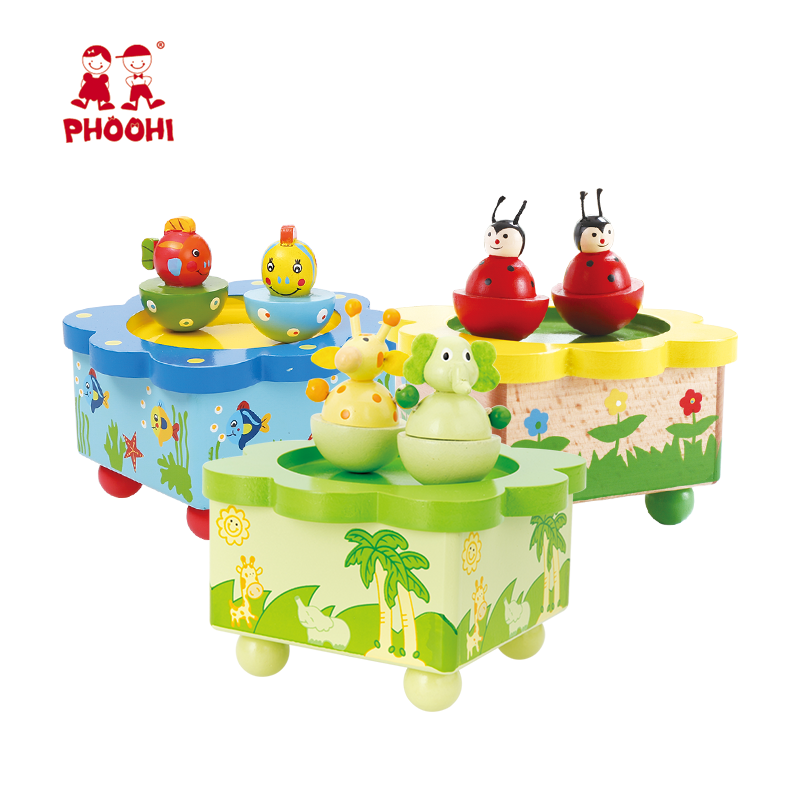 Happy Birthday Gifts Kids Magnetic Animal Carton Wooden Baby Music Box For  Children 3+ - Buy Wooden Music Box,Baby Music Box,Happy Birthday Music Box