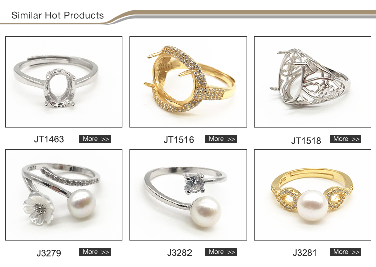 Wholesale custom gold-plating ring mountings charming silver ring designs for wedding