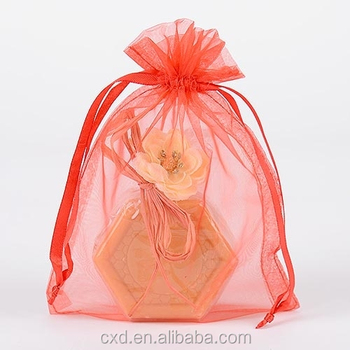 bulk organza bags/large organza gift bags for shampoo bottles/candles/slipers/