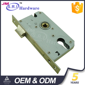 Stainless steel and iron 45mm backset security door lock body , mortise door lock made in China
