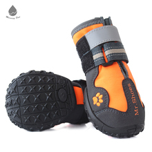 Hot Sale Reflective Waterproof and Rugged Anti-Slip Sole Dog Shoes
