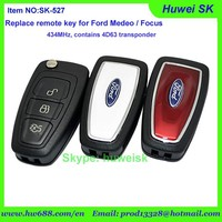 FORD MENDEO/FOCUS CAR AUTO TRANSPONDER REMOTE 3 BUTTONS FLIP KEY,433.92MHz,contains 4D63 transponder