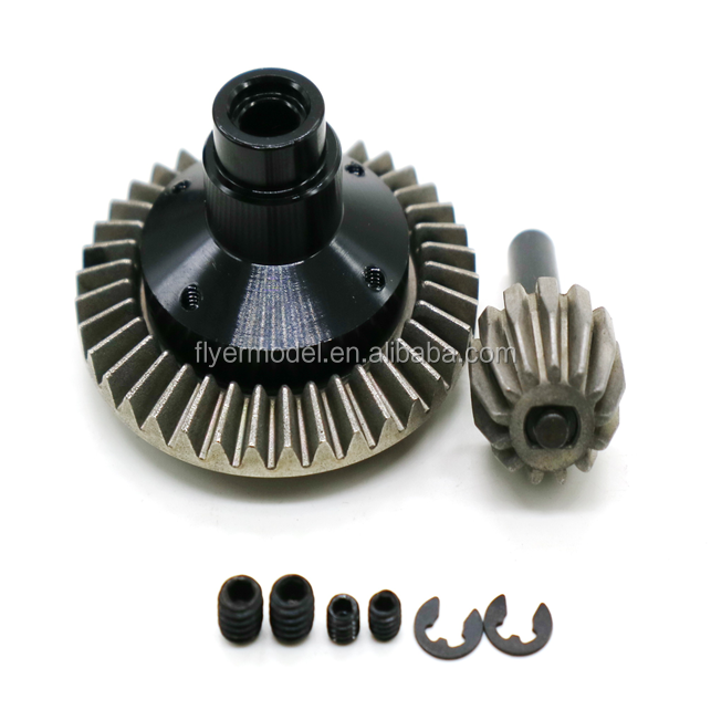 2PCS Heavy Duty Bevel Gear Set with M4 Screws for RC AXIAL Jeep Wrangler Wraith Car (AX30395BL)