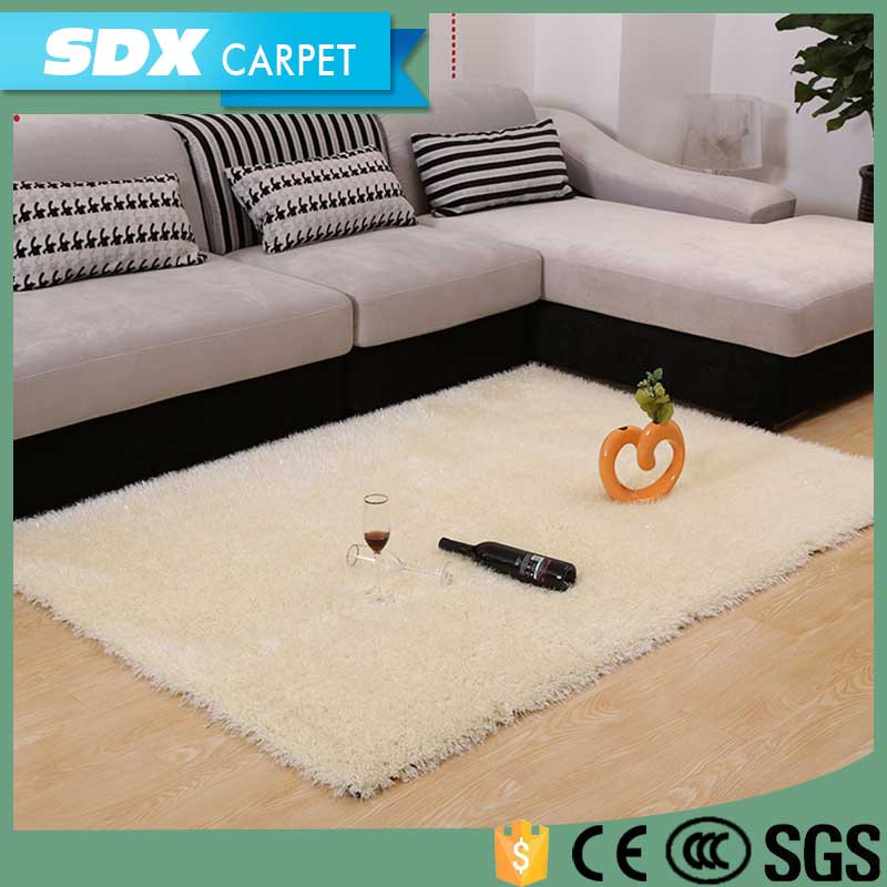 Fancy Rubber Backing Shaggy Carpet Tile White Carpet For Wedding