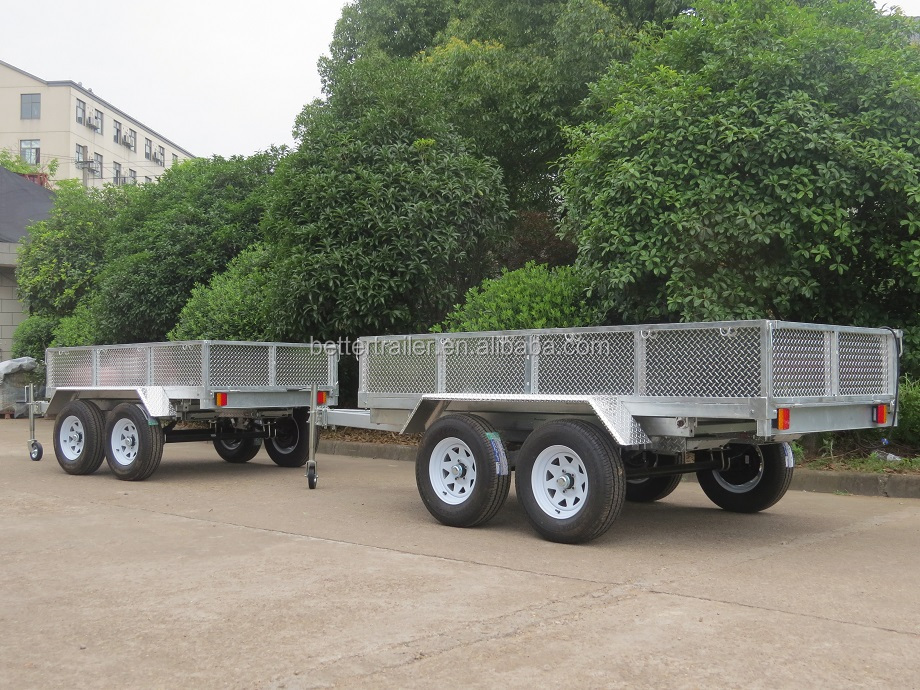 10x6 tandem box trailer, lightweight aluminum hydraulic dump trailer