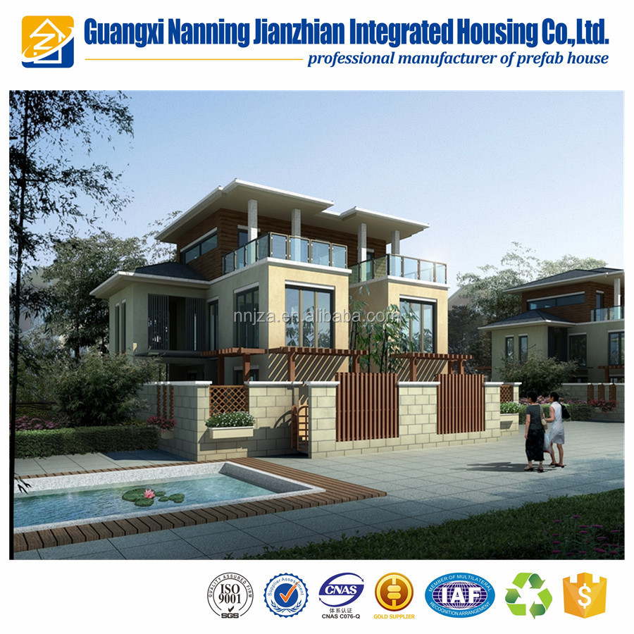 2 plantas pre-hechos casa panel sándwich casa prefabricada Villa ...