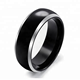 jewelry fashion bands black and gold Tungsten Ring Jewelry for men jewelry set