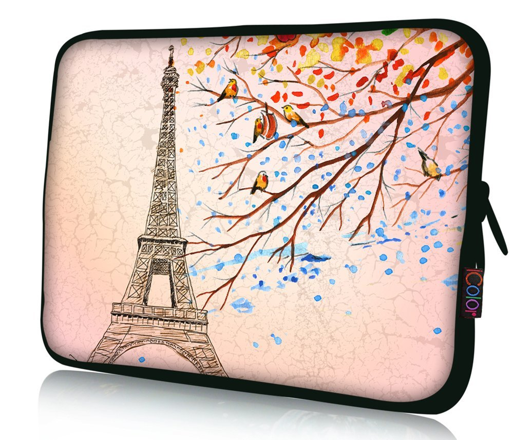"FBAps15-001 NEW Art design Eiffel Tower 14.5"" 15"" 15.4"" 15.6"" inch Computer Laptop Soft Neoprene Protection Bag Case Notebook Sleeve Cover Pouch Holder for Lenovo Idealpad Thinkpad /Dell Inspiron 1545 15 15r /Dell XPS 15z Alienware M15x /Apple Macbook Pro/ 15.5"" Sony Vaio E Series/15.6"" Hp"