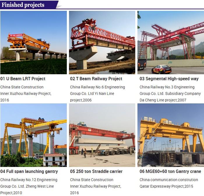 450t bridge u beam construction segment lifter machine