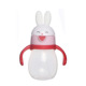 Cute Rabbit Shape Clear Plastic Water Training Soft Sippy Cups for Baby