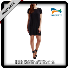 Wholesale latest ladies fashion short sleeve black casual dresses