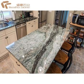 Economical Price Marble Jade Green Kitchen Worktop Polished Surface