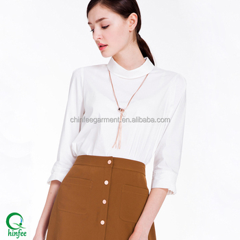 Bls048 Korean Ladies Formal Skirt And Blouses For Office Wear Buy