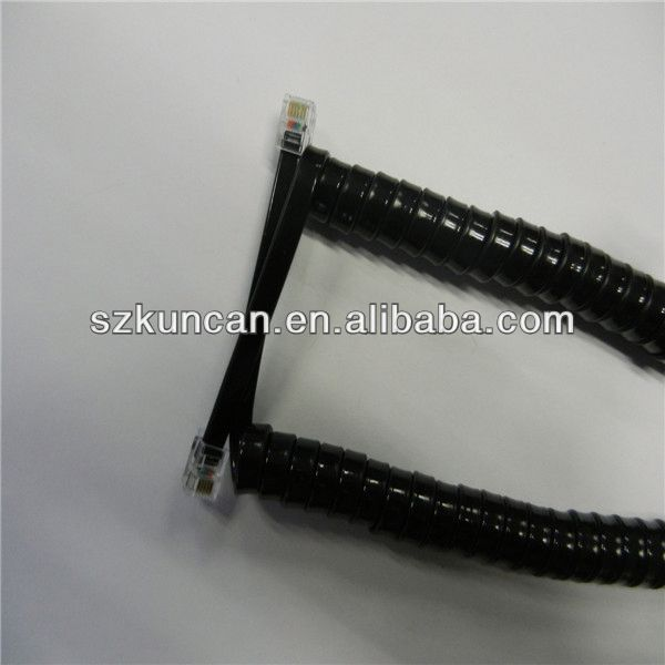 KCT-007 RJ11 6P4C connector coil cable telephone cable