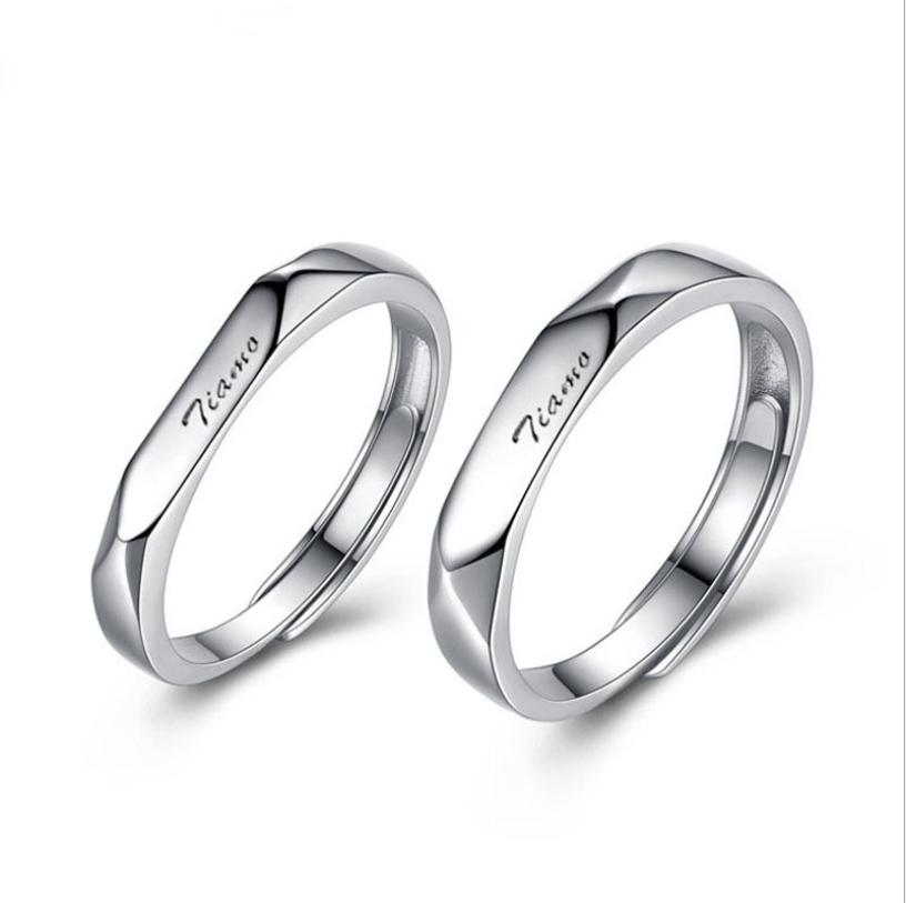 Tiamo love 925 sterling silver couple rings R0001 фото