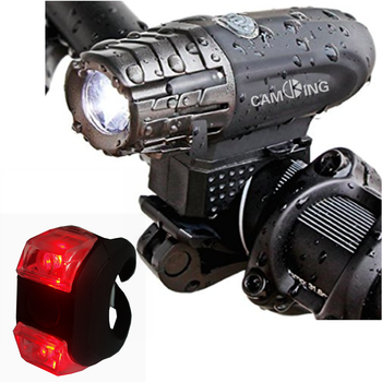 Amazon Hot selling USB Rechargeable Bike Light Set,powerful lumens bicycle front light free tail light,LED Bike front Light