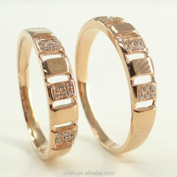 european jewelry couples wedding jewelry 18k yellow gold couple rings with diamond - Couple Wedding Rings