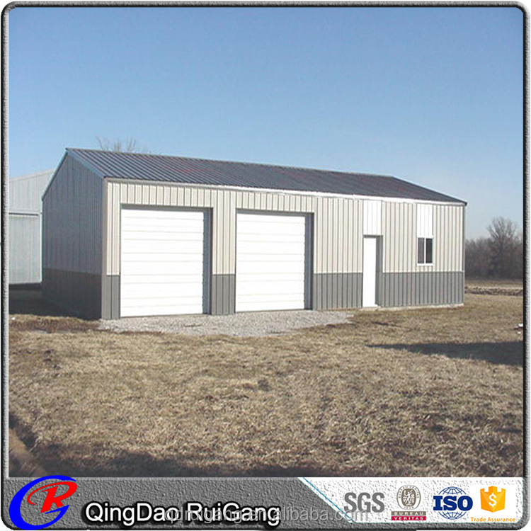 Industrial Building Design Prefab Steel Polar Garage with Shed