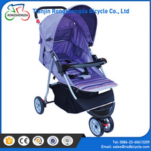 New arrival best quality dolls pram for babies,CE approved luxurious mental doll pram stroller,rubber wheel differential carrier