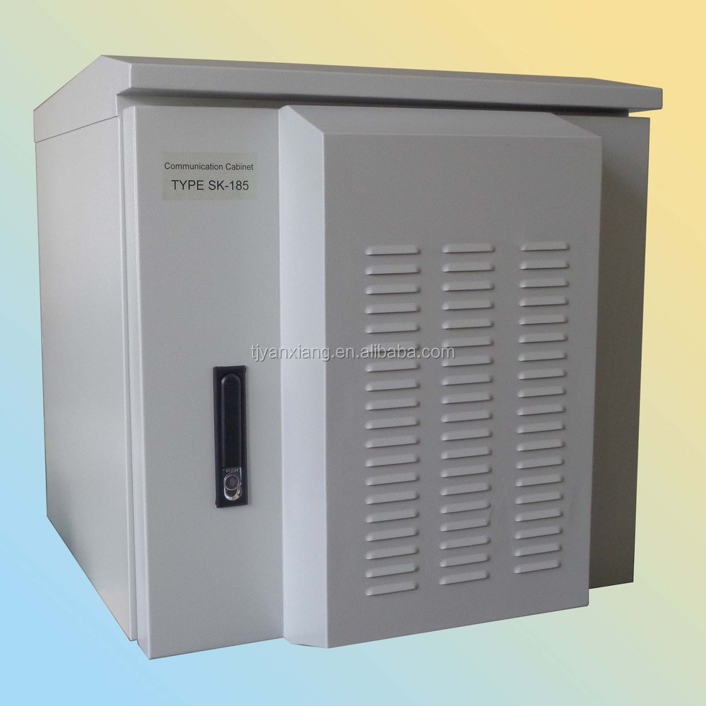Wall mounted lock box/network rack/SK-185 waterproof steel enclousre with air conditioner