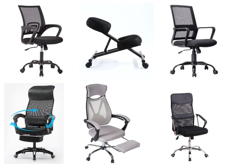메커니즘 디자인 컴퓨터 행정실 의자 데이터 입력 작업 홈 나일론 또는 크롬베이스 및 메쉬 등받이