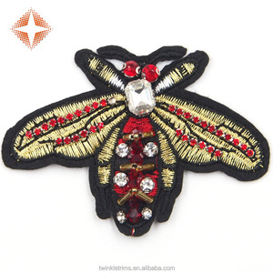 Wholesale Beaded Sew-on or Iron-on Embroidery Bee Patches