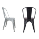 Stacking Classic Office Home Set Study Elegant Metal New Dining Modern Design Chair Beauty Iron Chair