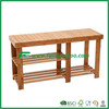 Competitive price bamboo bench with boot shelf